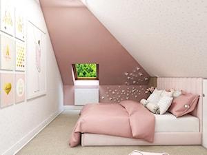 Dom Gdańsk Osowa 2 - Mały beżowy różowy pokój dziecka dla dziewczynki dla malucha dla nastolatka, styl nowoczesny - zdjęcie od Studio 23A