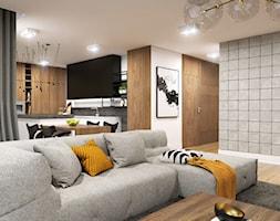 Apartament Gdynia Nowe Orłowo - Średni szary salon z kuchnią z jadalnią, styl nowoczesny - zdjęcie od Studio 23A - Homebook