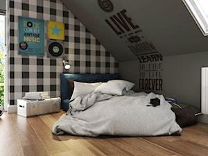 Dom Gdynia - Mały szary czarny pokój dziecka dla chłopca dla dziewczynki dla malucha dla nastolatka, styl industrialny - zdjęcie od Studio 23A