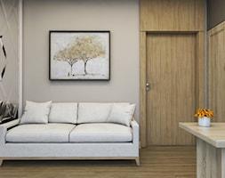 Apartament Nowe Orłowo - Małe szare biuro domowe w pokoju, styl nowoczesny - zdjęcie od Studio 23A