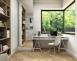 Klasyczny- dom Suchy Dwór - Średnie szare biuro kącik do pracy w pokoju, styl klasyczny - zdjęcie od Studio 23A