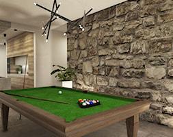 Dom w Miszewku - Średnia otwarta beżowa jadalnia w kuchni, styl industrialny - zdjęcie od Studio 23A
