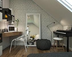Dom Gdynia - Mały szary pokój dziecka dla chłopca dla dziewczynki dla ucznia dla nastolatka, styl industrialny - zdjęcie od Studio 23A