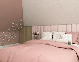 Dom Gdańsk Osowa 2 - Mały różowy pokój dziecka dla dziewczynki dla nastolatka, styl nowoczesny - zdjęcie od Studio 23A