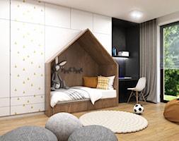 Apartament Gdynia Nowe Orłowo - Duży szary czarny pokój dziecka dla chłopca dla dziewczynki dla uczn ... - zdjęcie od Studio 23A - Homebook