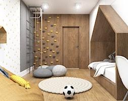 Apartament Gdynia Nowe Orłowo - Średni biały szary pokój dziecka dla chłopca dla dziewczynki dla ucz ... - zdjęcie od Studio 23A - Homebook