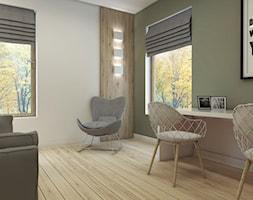 Dom w Pigwowcach - Średnie beżowe zielone biuro kącik do pracy w pokoju, styl nowoczesny - zdjęcie od Studio 23A
