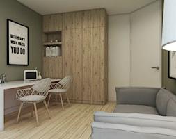 Dom w Pigwowcach - Średnie zielone biuro kącik do pracy w pokoju, styl nowoczesny - zdjęcie od Studio 23A