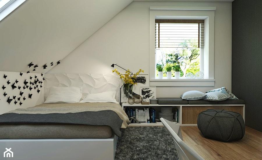 Aranżacje wnętrz - Pokój dziecka: Dom Gdynia - Mały biały czarny pokój dziecka dla chłopca dla nastolatka, styl industrialny - Studio 23A. Przeglądaj, dodawaj i zapisuj najlepsze zdjęcia, pomysły i inspiracje designerskie. W bazie mamy już prawie milion fotografii!
