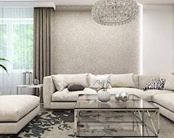 Dom Gdańsk Osowa 2 - Średni beżowy salon, styl nowoczesny - zdjęcie od Studio 23A - Homebook