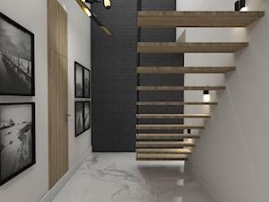 Dom Tczew - Średni biały hol / przedpokój, styl nowoczesny - zdjęcie od Studio 23A