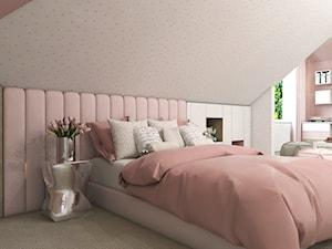Dom Gdańsk Osowa 2 - Średni szary różowy pokój dziecka dla dziewczynki dla ucznia dla nastolatka, styl nowoczesny - zdjęcie od Studio 23A