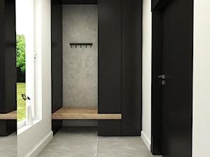 Dom Połczyno - Mały biały hol / przedpokój, styl nowoczesny - zdjęcie od Studio 23A
