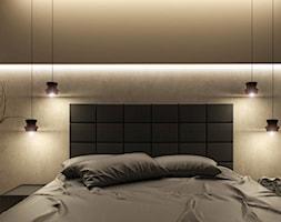 Dom Merano Park Gdynia - Mała biała sypialnia małżeńska, styl nowoczesny - zdjęcie od Studio 23A