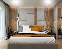 Apartament Gdynia Nowe Orłowo - Średnia szara sypialnia małżeńska, styl nowoczesny - zdjęcie od Studio 23A - Homebook