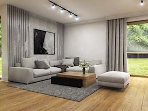 Dom Suchy Dwór - Średni biały salon, styl nowoczesny - zdjęcie od Studio 23A