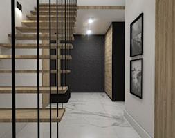 Dom Tczew - Duży biały hol / przedpokój, styl nowoczesny - zdjęcie od Studio 23A