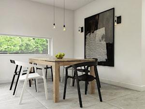 Dom Połczyno - Średnia otwarta biała jadalnia jako osobne pomieszczenie, styl nowoczesny - zdjęcie od Studio 23A
