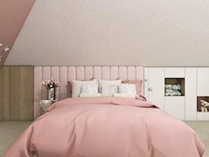Dom Gdańsk Osowa 2 - Mały szary różowy pokój dziecka dla dziewczynki dla malucha dla nastolatka, styl nowoczesny - zdjęcie od Studio 23A