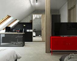 Dom Gdańsk Osowa 2 - Duży biały szary czarny pokój dziecka dla chłopca dla dziewczynki dla ucznia dl ... - zdjęcie od Studio 23A - Homebook
