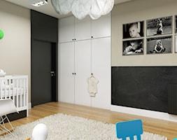 Dom Wygodny 2 Suchy Dwór - Duży szary czarny pokój dziecka dla chłopca dla dziewczynki dla ucznia dla niemowlaka, styl nowoczesny - zdjęcie od Studio 23A