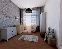 Mieszkanie/Warszawa - Duży szary pokój dziecka dla chłopca dla dziewczynki dla niemowlaka - zdjęcie od Midnight Interiors