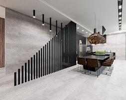 Dom SPA - Duża otwarta biała jadalnia w kuchni - zdjęcie od Pixels