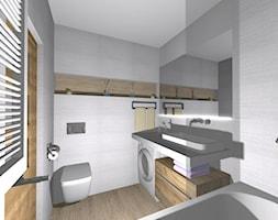 Mała łazienka w stylu skandynawskim - Mała łazienka w bloku w domu jednorodzinnym z oknem, styl vintage - zdjęcie od PŁYTKI-SKLEP24