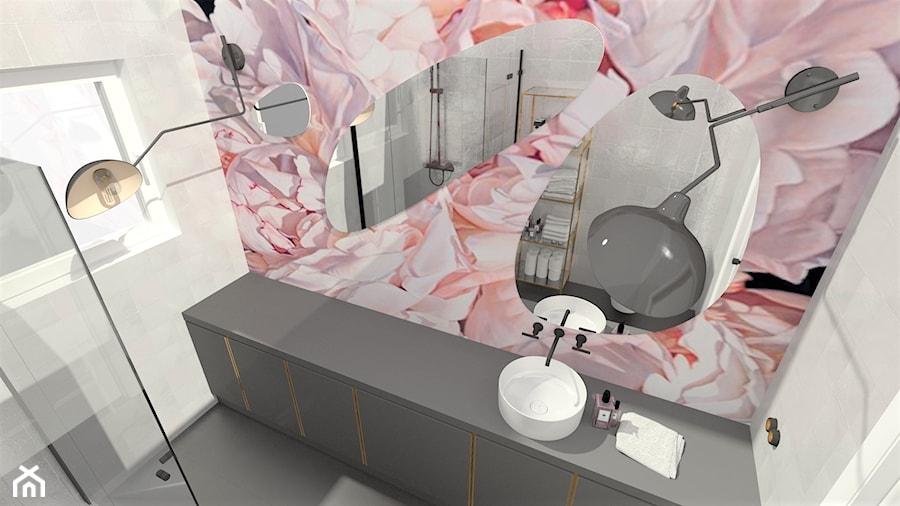Aranżacje wnętrz - Łazienka: Aranżacja łazienki - TARNÓW - M&M pracownia projektowania wnętrz. Przeglądaj, dodawaj i zapisuj najlepsze zdjęcia, pomysły i inspiracje designerskie. W bazie mamy już prawie milion fotografii!