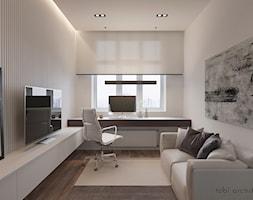 INTELLIGENCE - Średnie białe biuro domowe kącik do pracy w pokoju, styl nowoczesny - zdjęcie od Tobi Architects