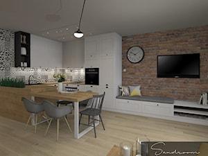 Przytulny salon z aneksem kuchennym