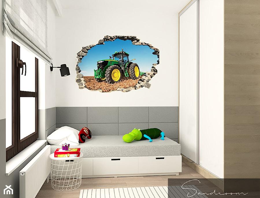 Aranżacje wnętrz - Pokój dziecka: Pokój dla młodego fana traktorów - sandroom. Przeglądaj, dodawaj i zapisuj najlepsze zdjęcia, pomysły i inspiracje designerskie. W bazie mamy już prawie milion fotografii!