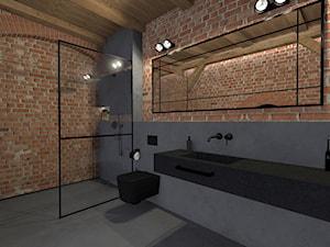 Męski loft w odrestaurowanych koszarach/łazienka - zdjęcie od sandroom