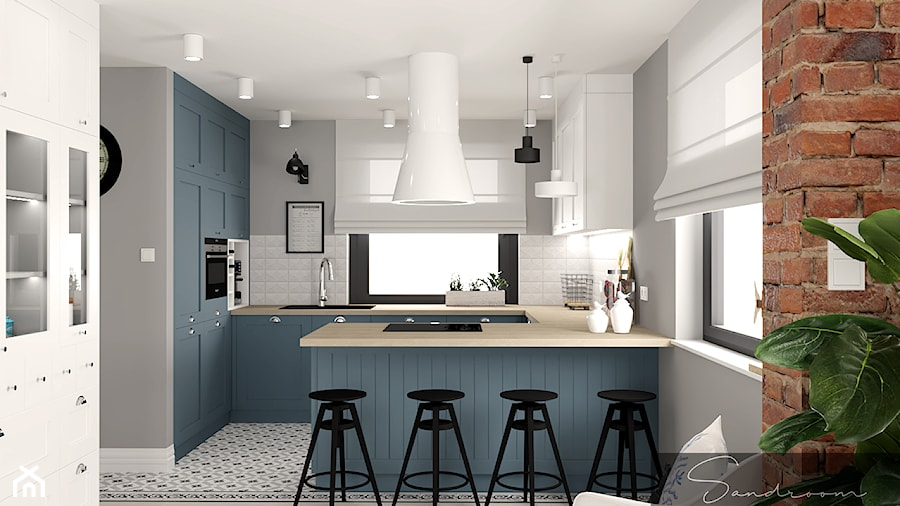 Niebieska Kuchnia Zdjecie Od Sandroom Homebook