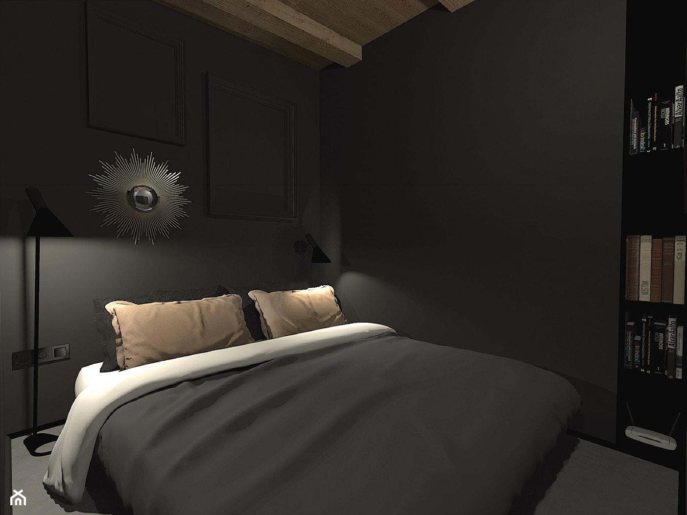 Męski loft w odrestaurowanych koszarach/sypialnia - zdjęcie od sandroom - Homebook