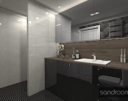 Odważna łazienka z motywem palmy - zdjęcie od sandroom