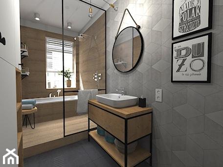 Aranżacje wnętrz - Łazienka: Łazienka z wanną i prysznicem - sandroom. Przeglądaj, dodawaj i zapisuj najlepsze zdjęcia, pomysły i inspiracje designerskie. W bazie mamy już prawie milion fotografii!