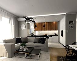 Nowoczesny+salon+z+dodatkiem+eleganckiej+czerni+-+zdj%C4%99cie+od+sandroom