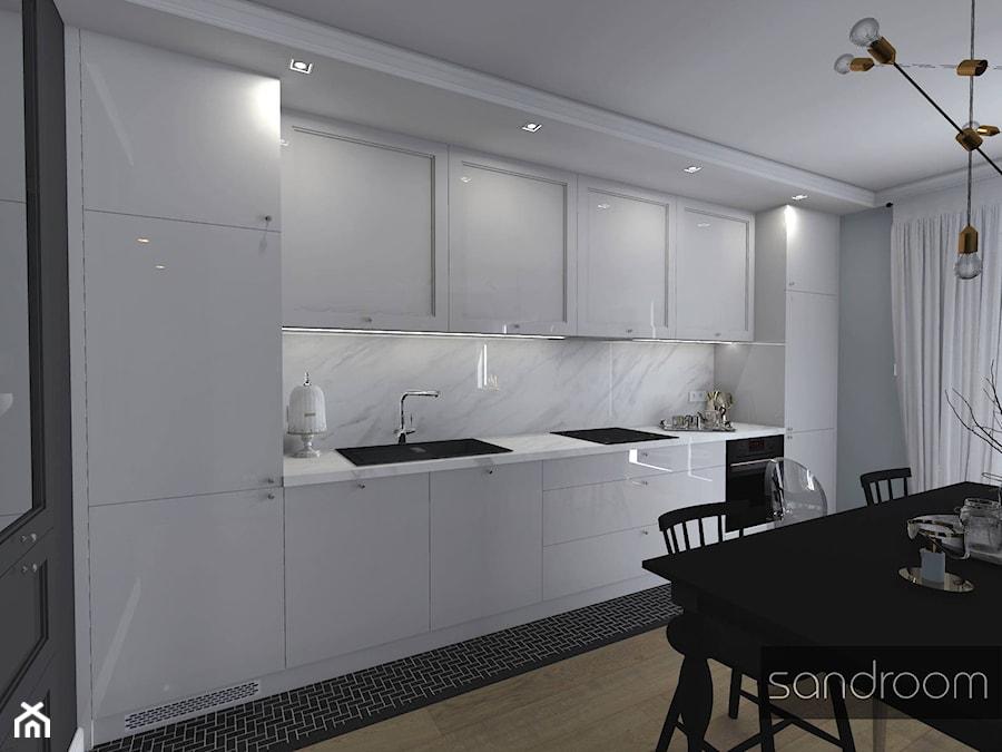 Czarno Biała Kuchnia Z Marmurem Zdjęcie Od Sandroom Homebook