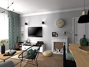 Salon w industrialnym stylu - zdjęcie od sandroom