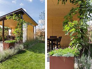 Nowoczesny ogród z altaną - Mały ogród za domem - zdjęcie od Kąty Proste - Fotografia Wnętrz i Architektury