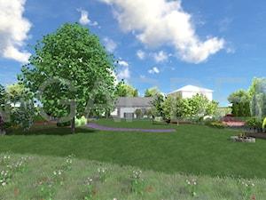 Sielski ogród z łąką kwietną i zagajnikiem