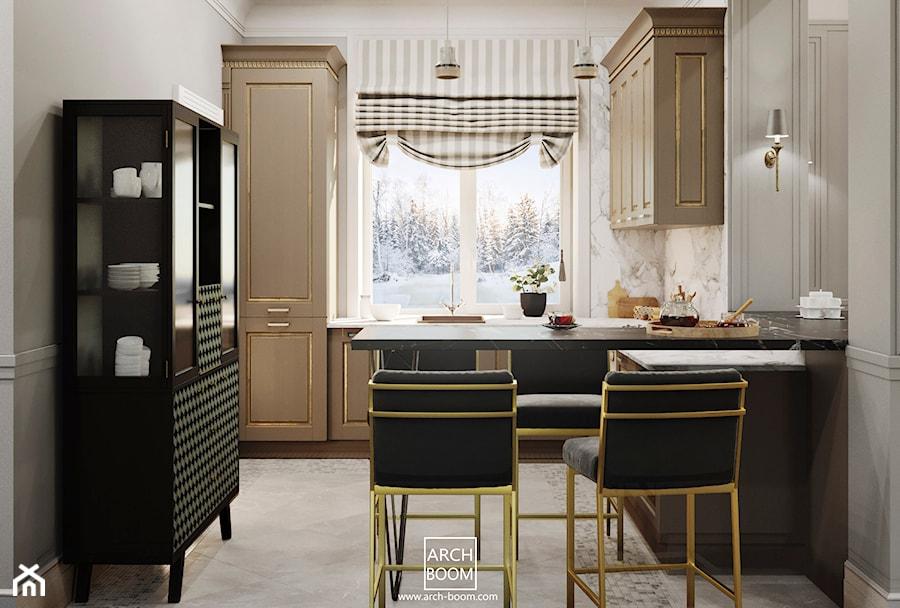Dom W Stylu Art Deco Kuchnia Styl Glamour Zdjęcie Od
