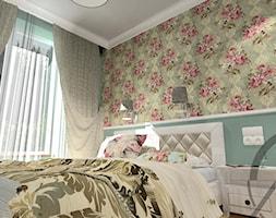 PROJEKT WNĘTRZA - SYPIALNIA TYCHY - Mała niebieska sypialnia małżeńska, styl klasyczny - zdjęcie od AM PROJEKT Adrian Muszyński