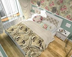 PROJEKT WNĘTRZA - SYPIALNIA TYCHY - Mała zielona sypialnia małżeńska, styl klasyczny - zdjęcie od AM PROJEKT Adrian Muszyński