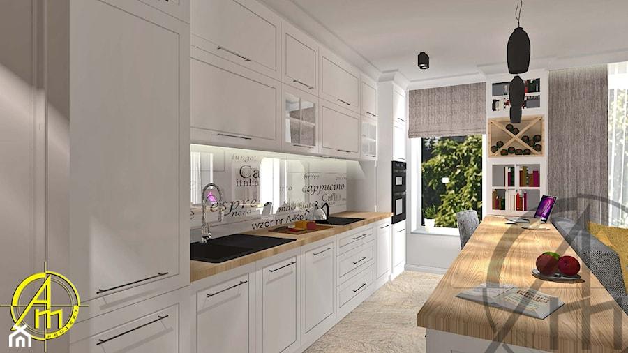 Projekt Wnętrza Mieszkanie Tychy Kuchnia Styl