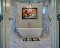 Średnia beżowa łazienka w domu jednorodzinnym z oknem - zdjęcie od RAKBISobrazy