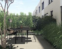 Projekt ogrodu przy zabudowie szeregowej - Gdynia | Mały Kack | Osiedle Merano Park - zdjęcie od Pracownia STTYK | Architektura Wnętrz i Krajobrazu | Projektowanie wnętrz i ogrodów | TRÓJMIASTO