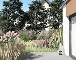PROJEKT NATURALISTYCZNEGO OGRODU PRZY DOMU JEDNORODZINNYM, Gdańsk Osowa - Przestrzenie wypełnione lekką roślinnością - zdjęcie od Pracownia STTYK   Architektura Wnętrz i Krajobrazu   Projektowanie wnętrz i ogrodów   TRÓJMIASTO