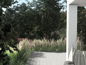 PROJEKT NATURALISTYCZNEGO OGRODU PRZY DOMU JEDNORODZINNYM, Gdańsk Osowa - Przestrzenie do wypoczynku - zdjęcie od Pracownia STTYK | Architektura Wnętrz i Krajobrazu | Projektowanie wnętrz i ogrodów | TRÓJMIASTO